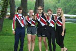 Bronze Medal - Novice Women 4+  Tyler Clark (Cox), Maddie McConaghy, Osa Wheeler, Katie Finneran, and Laura Yates