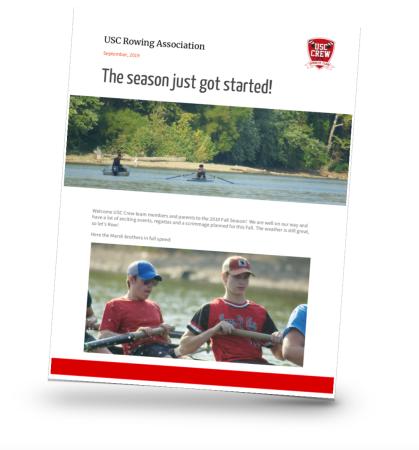 USC Rowing CREW Newsletter September