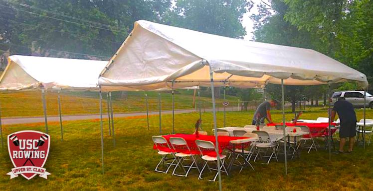 USC Rowing CREW tent rental